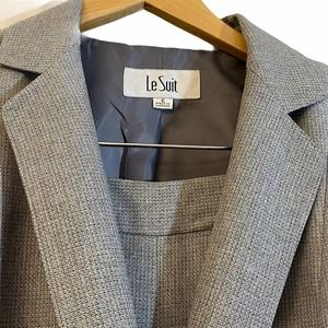 Le Suit Pant Suit Single Button Women Gray Size 6